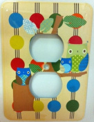 Owl Treetop Friends Wall Plate, Electrical Outlet