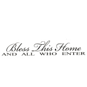 Bestchoice2go(TM) BLESS THIS HOME AND ALL WHO ENTER Lettering Quotes And Sayings Home Wall Sticker Decal Paper Art Deco