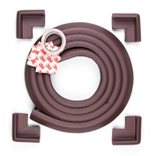 Premium Furniture Edge and Corner Safety Bumpers From Edge Armour™ - Ensure Your Childrens Safety at Home - 3 Stylish Colour Options - Includes 4 CORNER Cushions PLUS 2 metres of Edge Guard - 100% Lifetime Satisfaction Guarantee on All Genuine Edge A ..