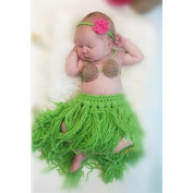 Baby Girl Boy Newborn 0-3 Months 2pcs Knitted Crochet Clothes Photo Prop Outfits