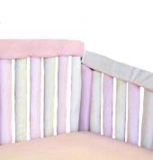 Go Mama Go designs Teething Guard, Pink/Cream, 80cm x 15cm