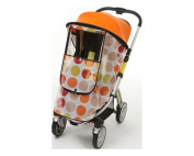 Manito Harmony Magic Shade (Sun Shade + Mosquito Net 2-in-1) for Strollers - Orange