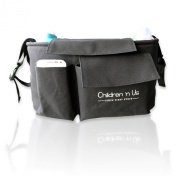 Super Stroller Organiser - Fits Most Baby Strollers - Also For Bikes And Cars. Largest Stroller Organiser - Expand Stroller Storage Capacity With The Best Stroller Organiser .