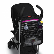 Built Day Tripper Stroller Organiser, In Mini Dot Black and White