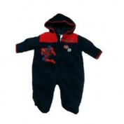 Spiderman Fleece Pram (6-9)