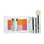 Mix Blush Compact N (4 Color Blush Compact + Brush) - # 04 Candy Orange, 8g/0.28oz