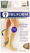 Truform 8808, Compression Stockings, Anti-Embolism, Knee High, Closed Toe, Short, 18 mmhg, Beige, Large