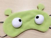 Velboa Lovely/Cute Eye mask/Blinder/Patch Eye protection Sleep Eye Cover,Stereoscopic eyes green