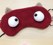 Velboa Lovely/Cute Eye mask/Blinder/Patch Eye protection Sleep Eye Cover,Stereoscopic eyes red