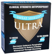 Kleinert's Extra Strength Ultra Sweat Shield Clinical Antiperspirant Wipes 10 Count. Eliminates Underarm Perspiration Up To 7 Days