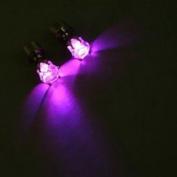 Ayygiftideas 1pair Magic Light Up LED Earring Ear Stud Party Accessories Multi Colour Choice