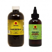Jamaican Black Castor Oil 120ml + Strong Roots Red Pimento Hair Growth Oil 120ml
