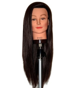 70cm - 70cm Cosmetology Mannequin Manikin Training Head with Synthentic Fibre - Emily