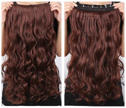 Onedor 50cm Curly 3/4 Full Head Synthetic Hair Extensions Clip on/in Hairpieces 5 Clips 120g
