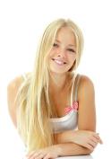 Tressmatch® 41cm - 43cm Remy (Remi) Human Hair Clip in Extensions Light/bleach Blonde (Colour #613) 9 Pieces(pcs) Full Head Volume Set [Set Weight