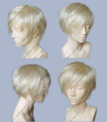 Flyingdragon New Cosplay Short Platinum Blonde Fashion Heat Resistance Wig