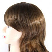 Fashion Girls and Women Sexy and Charming Long Wavy Hair Wig - Neat Bangs - Long Full Hair