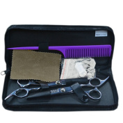 Finejo Professional Stainless Hairdressing Barber Hair Thinning Scissors Set