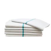 12 Green Stripe Herringbone Shaving 38cm x 70cm Barber Shop Hot Shave Face Towels