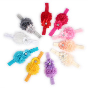 2013newestseller 10pcs Colourful Beautiful Baby Girls Headbands, Hair Accessories