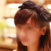Fashion Sweet Korean Style Big Bowknot Hair Band Bow Headband Hair Accessory Black