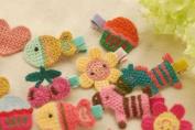 Lace Kenzola 19pc Toddler Crocheted No-damage Animal Theme Mini Hair Barrettes Set