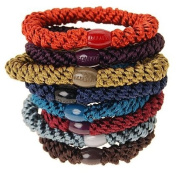 L. Erickson Ponytail Holders - Set of Eight - Fall Pack