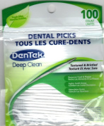Dentek Dental Picks (Textured & Bristled for Deep Clean) with Fresh Mint, 100 Count