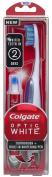Colgate Optic White Toothbrush Plus Whitening Pen, Compact Head Medium