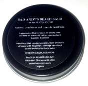 NEW - Bad Andy's TACTICAL Beard Balm - Natural Unscented for Tactical facial hair - Combat Beards - Outdoors man - Made in Maine