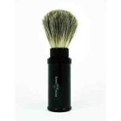 Edwin Jagger Black Aluminium Travel Pure Badger Shaving Shave Brush-81M536