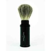 Edwin Jagger Black Aluminium Travel Pure Badger Shaving Shave Brush-81M536