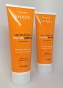 (2 Pack) Trader Joe's Honey Mango Moisturising Shave Cream with Aloe Vera and Vitamin E for Men and Women