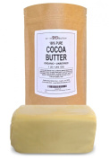 Organic Cocoa Butter - Unrefined and 100% Pure - Incredible Natural Cocoa Scent - High in Anti-Oxidants and Fatty Acids - Moisturising and Anti-Inflammatory - Best Remedy for Stretch Marks and Perfect Belly Butter to Keep Mommy's Skin Soft and Supple - ..