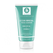 OZ Naturals Facial Cleanser - This Natural Face Wash Is A Superior Cleanser That Deep Cleans & Unclogs Pores With Ocean Minerals, Vitamin E and Rose Hip Oil. This Cleanser For Your Face Will Provide Your Skin With That Healthy, Refreshing Glow - 100% S ..