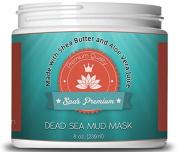 Spa's Premium Dead Sea Mud Mask 240ml *Bonus* Shea Butter, Aloe Vera Juice, Sunflower, Jojoba, Hickory Bark, Calendula Help Reinvigorate Your Skin