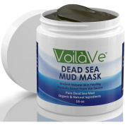 Dead Sea Mud Facial Mask ★HUGE 470ml★ - Organic - Made with Dead Sea Mud Imported from Israel - Facial Mask and Skin Care Treatment - All Natural Mud Mask Provides Gentle Facial Exfoliation, Natural Moisturiser & Deep Cleansing to Restore Your Skin ..