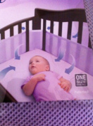 BreathableBaby Mesh Crib Liner Solid Purple