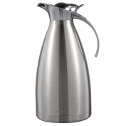 CUNEW (NB550010) Stainless Steel Double Wall Vacuum Jug Flask / Insulated Pot / Thermal Vacuum Carafe / Thermos Carafe 15-Cup 2-Litre