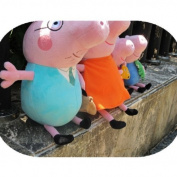"Peppa Pig Family Plush Doll Set 4pcs 30cm (12"") Daddy Mummy Pig+19cm (8"")george Peppa Pig Plus + 1 Pair Bobby Pin As Gift"