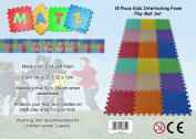 18 PC Kids Interlocking Foam Play Mat Set