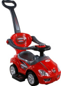 Baby Car - Ride-On - Activity Toy ARTI 381 Mega Car Deluxe Red with Parent Handle