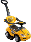 Baby Car - Ride-On - Activity Toy ARTI 381 Mega Car Deluxe Yellow with Parent Handle