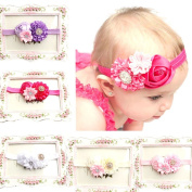 Atdoshop(TM) 5PC Baby Girls Elastic Headband Rose Flower Photography Headbands