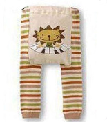 BABY TODDLER INFANT LEGGINGS TIGHTS PANTS UNISEX WITH ADORABLE ANIMAL DESIGN LION PIANO MEDIUM