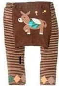 BABY TODDLER INFANT LEGGINGS TIGHTS PANTS UNISEX WITH ADORABLE ANIMAL DESIGN DONKEY LARGE