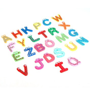 26 Colourful Kids Wooden Alphabet Letter Fridge Magnet Child Educational Toy