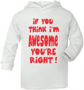 If You Think I'm Awesome Your Right Supesoft Baby Hoodie
