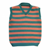 100% merino wool baby boy girl toddler children knitted vest striped