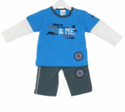 Baby Boys 2 Piece Outfit Top & Bottoms- Blue - 0-3 Months